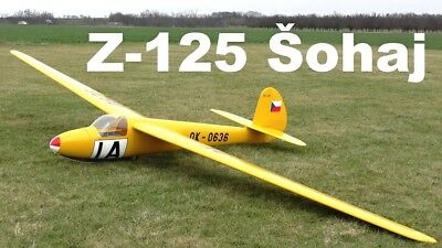 "High quality RC Scale Plan, ""Z-125 Sohaj 2""' for an Historical Glider (1950)"