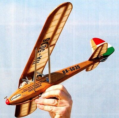 High quality RC Scale Glider Plan, 'Rubik R11 Cimbora'' Historic Sailplane, 1:20