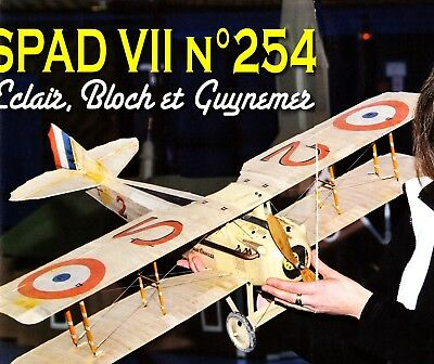 "Plan RC elektro Scale ""SPAD-VII"" Guynemer WW-I Airplane"