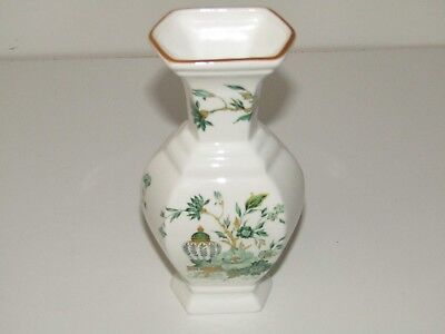 Crown Staffordshire Made in England KOWLOON bone china ceramic 6 sided vase