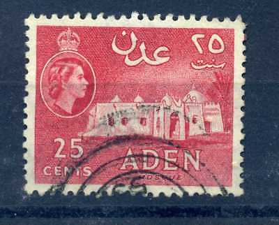 Aden 1953 25c crack in wall used sg 54a