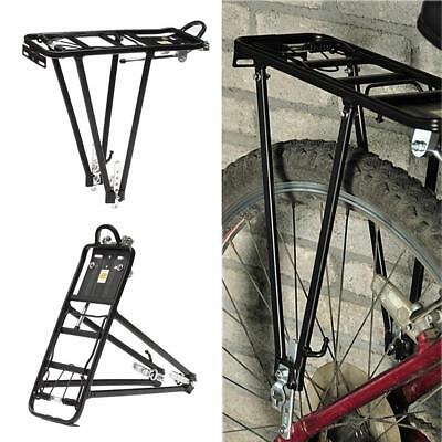 Aluminum Luggage Carrier Bicycle Mountain Bike Rear Rack Seat Post Mount Pannier