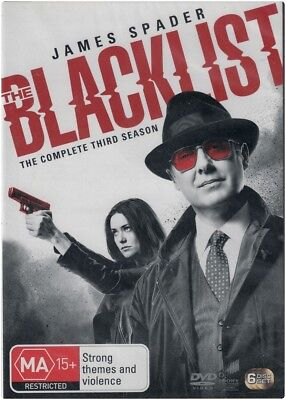 """THE BLACKLIST: Season 3"" DVD, 6 Disc Set - Regions [4][2][5] BRAND NEW"
