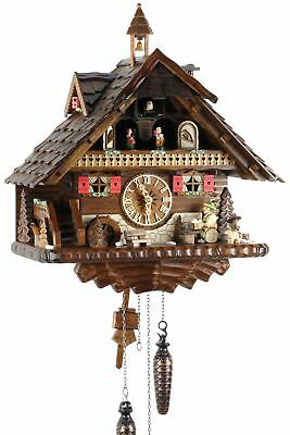 Black Forest House 42cm- Cuckoo Clock Cuckoo Clock Real Wood New Bat
