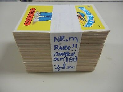 1986 Garbage Pail Kids GPK USA Series 3 Complete master Set 180 cards Near Mint!