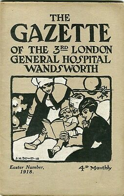 The Gazette of The 3rd London General Hospital Wandsworth .March 1918,Easter.