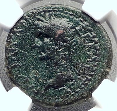 CALIGULA & RHOEMETALKES III King of Thrace 38AD Ancient Roman Coin NGC i72347