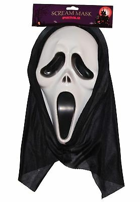 Adult Fancy Horror Screaming Face Mask Mens Halloween Party Wear Ghost Mask