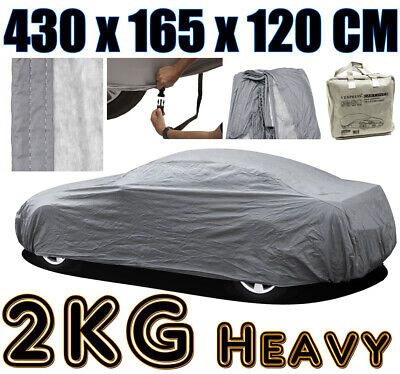 Medium M Full Car Cover 100% Waterproof Outdoor Breathable Rain Snow Protection