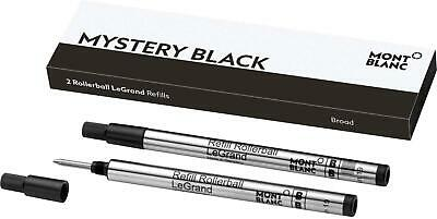 Montblanc Rollerball LeGrand Refills Broad Tip Mystery Black Pack of 2 113840