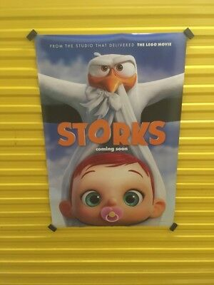 Storks - original DS movie poster - 27x40 D/S Advance See Pics Rare Unique