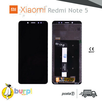Display Lcd Touch Screen Per Xiaomi Redmi Mi Note 5 Nero Vetro Ricambio Schermo