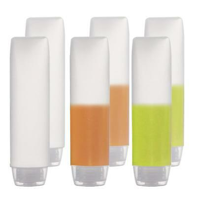 6-Pack Travel Size Plastic Squeeze Bottles for Liquids, 30ml/1oz TSA Approved Ma