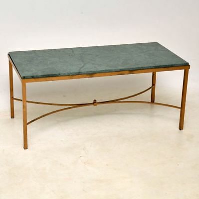 Antique French Marble & Brass Coffee Table