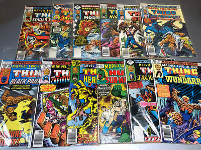 Lot of 12 The Thing Marvel Two-In-One Comics 30 32 33 34 35 36 40 42 44 47 48 57