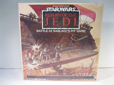 Star Wars Battle At Sarlacc's Pit Game With 17 Painted Micro Figures Sealed 1983