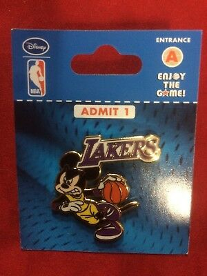 Mickey Mouse Los Angeles Lakers NBA Disney Pin - New - Factory Package