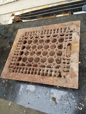 antique victorian grate with louvers honeycomb style 13x12