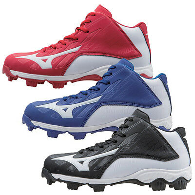 timeless design 450e0 2ce9a NEW Youth Mizuno Baseball Cleats 9 Spike Franchise 8 Mid-Choose Size   Color