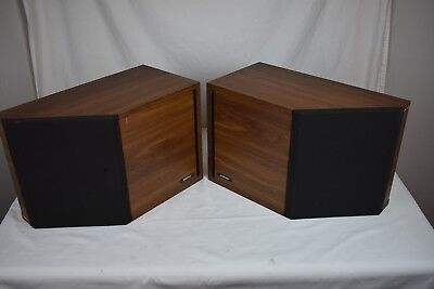 Vintage Bose 22 Direct Reflecting Bookshelf Speakers Matched Pair Left Right