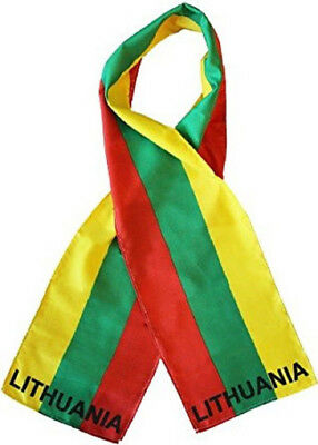 "Lithuania Country Lightweight Flag Printed Knitted Style Scarf 8""x60"""