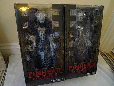 "Mezco 12"" Pinhead Hellraiser Normal and Bloodied Variant Action figures BNIB"