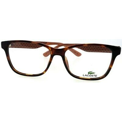 9a648d74a258 Lacoste L2774-210-54 Women's Brown Frame Clear Lens Genuine Eyeglasses NWT