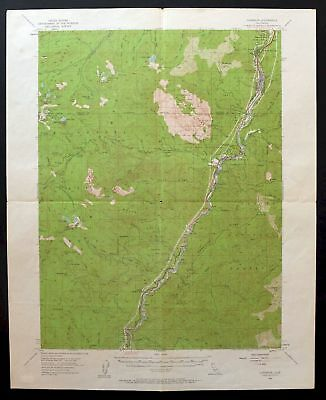 Vintage USGS Topo Map 1954 DUNSMUIR CALIFORNIA Mount Shasta Topographical