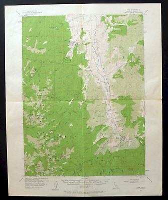1955 Etna California Russian Wilderness Vintage USGS Topographic Topo Map