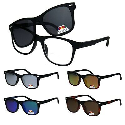 0f71f6cffc4 Polarized Magnetic Clip On Shade Sunglasses with Bifocal Reading Glasses
