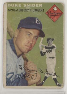 1954 Topps #32 Duke Snider Brooklyn Dodgers Baseball Card