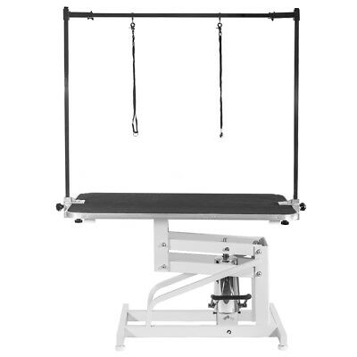 Xpusa Z-Lift Metal Hydraulic Pet Dog Cat Grooming Table w/Adjustable Arm Noose