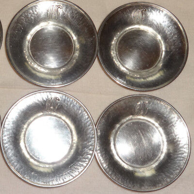 Old Antique Lebolt Hand Beaten 688 Sterling Silver Bowl Tray Rac