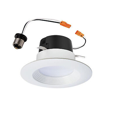 Recessed Retrofit Downlight (Fits Housing Diameter: 4-in) White Dimmable LED