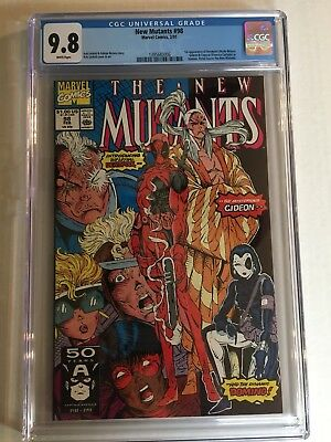 THE NEW MUTANTS # 98 CGC 9.8,WHITE PAGES. 1st Deadpool