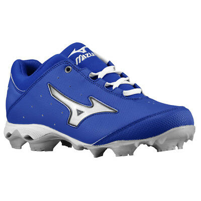 Neue Womens Mizuno Softball Stollenschuhe Finch Elite Switch Royal /Weiß Größe