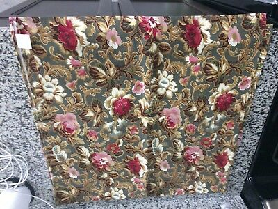 "Longaberger MAJOLICA GARDEN FABRIC SQUARE Table Cloth Topper  48"" NEW Rare Fall"