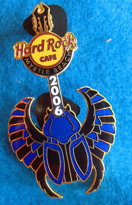 MYRTLE BEACH ANCIENT EGYPTIAN BLUE SCARAB BEETLE GUITAR Hard Rock Cafe PIN LE