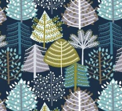 "Dashwood Christmas ""SnowForest"" Trees Cotton Fabric"