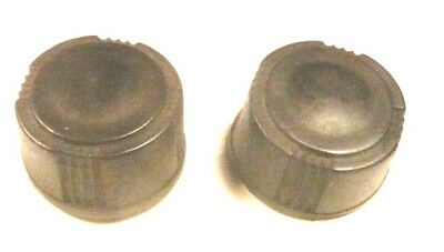 "vIntage  SILVERTONE 7134 TABLE RADIO:  SET OF 2 BAKELITE KNOBS 15/16"" on bottom"