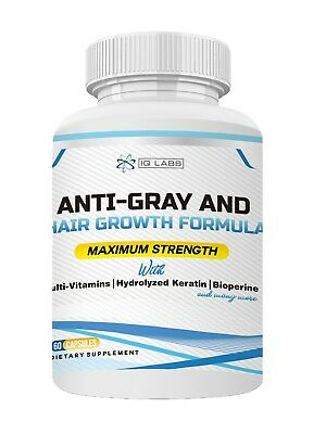 Anti-Gray and Hair Growth Formula Supplement Pills+Vitamins+Keratin+Biotin