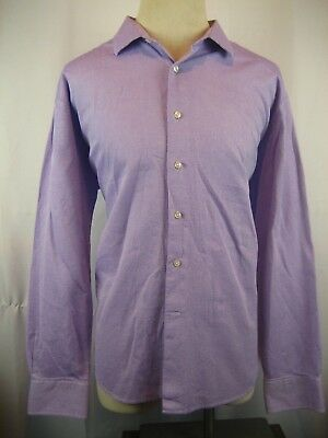 Mens Tallia (Italy) 100% Cotton Purple Pinpoint LS Casual Shirt sz XXL 18.5