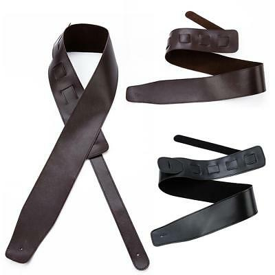 Adjustable Soft Guitar Strap Acoustic Electric Guitar Bass PU Leather Thick Belt