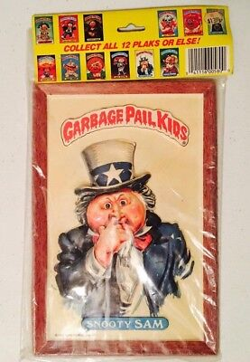 "1986 Vintage (Topps) ""GARBAGE PAIL KIDS"" (Snooty Sam) ""3-D WALL "" Plaque"