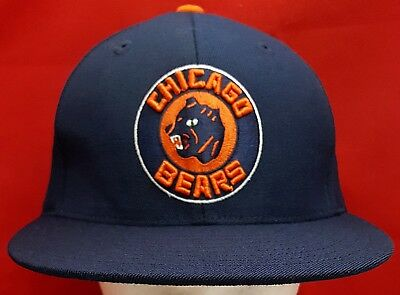 5fb37333 ... clearance chicago bears nfl mitchell ness fitted cap hat e81ee 22b48