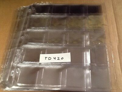 (15) BCW Vinyl 20-Pocket 2x2 Coin Pages Protect Display Storage
