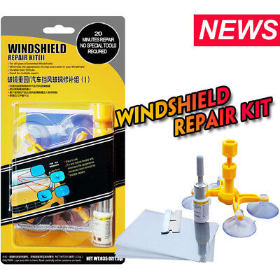 Windshield Cracked Glass Repair Kit Car Glass Window Scratch Chip Restore Tools