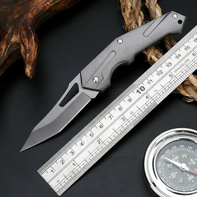 """7"""" Tactical Fiexed Knife Folding Survival Pocket Blade Open Stainless Outdoor"""