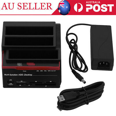 USB 3.0 to Triple SATA Hard Drive 2.5''3.5'' IDE HDD Docking Station Reader AU