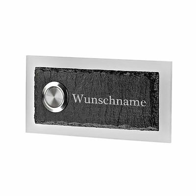 Led Doorbell of Slate and Acrylic Glass Model Kleiber Incl. Engraved